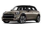 Stock pictures of low aggressive front three quarter view of a 2018 Mini MINI Cooper S Chilli 5 Door Hatchback