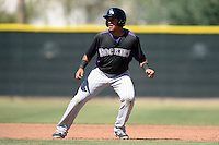 Colorado Rockies outfielder Rafael Ortega (47) during an instructional league game against the Los Angels Angels of Anaheim on September 30, 2013 at Tempe Diablo Stadium Complex in Tempe, Arizona.  (Mike Janes/Four Seam Images)