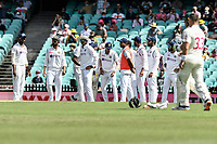 7th January 2021; Sydney Cricket Ground, Sydney, New South Wales, Australia; International Test Cricket, Third Test Day One, Australia versus India; India are disappointed as the third umpire rules not out to Will Pucovski of Australia