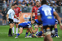 Max Green of Bath Rugby passes during the Gallagher Premiership Rugby match between Bath Rugby and Gloucester Rugby at The Recreation Ground on Saturday 8th September 2018 (Photo by Rob Munro/Stewart Communications)