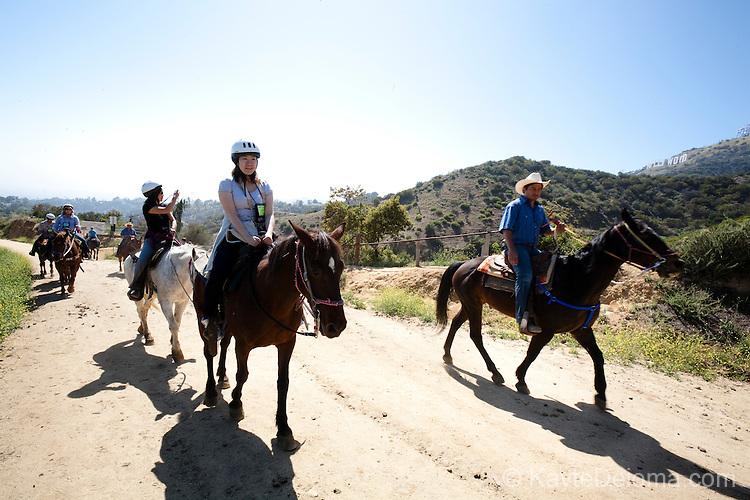 Horseback riders at Sunset Ranch, Los Angeles, CA