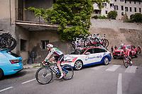 Italian champion Elia Viviani (ITA/Deceuninck-QuickStep)<br /> <br /> Stage 8: Tortoreto Lido to Pesaro (239km)<br /> 102nd Giro d'Italia 2019<br /> <br /> ©kramon