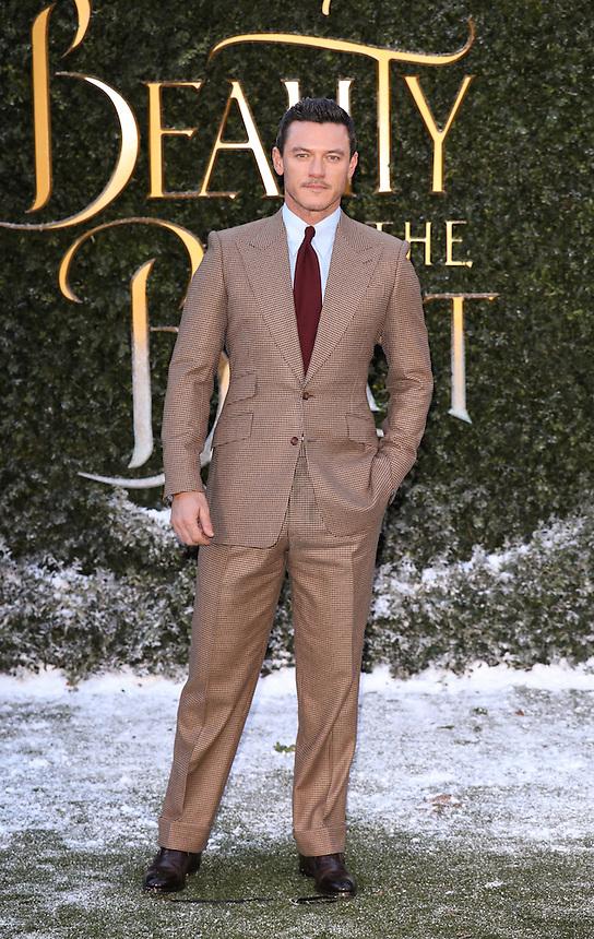 "Luke Evans<br /> arrives for the ""Beauty and the Beast"" screening, St.James', London.<br /> <br /> <br /> ©Ash Knotek  D3234  23/02/2017"