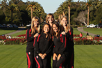 STANFORD, CA - OCTOBER 28:  Maria Koroleva, Morgan Fuller, Alex Bollaidlaw, Kimiko Urata, and Olivia Morgan during picture day on October 28, 2009 in Stanford, California.