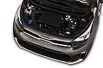Car stock 2017 KIA Picanto Fusion 5 Door Hatchback engine high angle detail view
