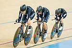 The team of New Zealand with Racquel Sheath, Rushlee Buchanan, Kirstie James and Jaime Nielsen competes in the Women's Team Pursuit Finals as part of the 2017 UCI Track Cycling World Championships on 13 April 2017, in Hong Kong Velodrome, Hong Kong, China. Photo by Marcio Rodrigo Machado / Power Sport Images