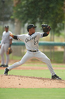ACL White Sox pitcher Erick Bello (27) during a game against the ACL Dodgers on September 18, 2021 at Camelback Ranch in Phoenix, Arizona. (Tracy Proffitt/Four Seam Images)