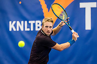 Amstelveen, Netherlands, 20  December, 2020, National Tennis Center, NTC, NK Indoor, National  Indoor Tennis Championships, Men's  Single Final   :  Jelle Sels (NED) <br /> Photo: Henk Koster/tennisimages.com