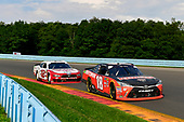 #18: Ryan Preece, Joe Gibbs Racing, Toyota Camry Craftsman, #12: Brad Keselowski, Team Penske, Ford Mustang Wabash National