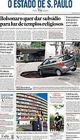 10.01.2020 - Chuva abre cratera e espalha buracos em SP. (Foto: Fábio Vieira/FotoRua)