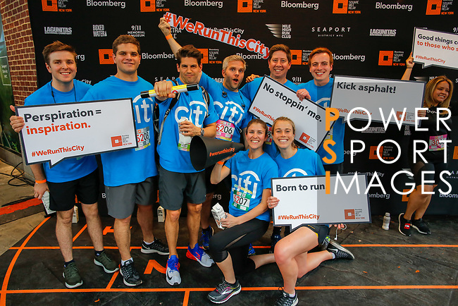 The Extra Mile 2018 - Citi teams pose before the New York race on 3 May 2018, in New York, USA. Photo by Enrique Shore / Power Sport Images