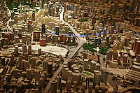 CHINA. Shanghai. A model of Shanghai in the Shanghai Urban Planning Hall. Shanghai is a sprawling metropolis or 15 million people situated in south-east China. It is regarded as the country's showcase in development and modernity in modern China. This rapid development and modernization, never seen before on such a scale has however spawned countless environmental and social problems. 2008.
