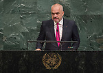 72 General Debate – 22 September <br /> <br /> His Excellency Edi Rama, Prime Minister of the Republic of Albania