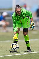 Bradenton, FL - Sunday, June 12, 2018: Anna Karpenko prior to a U-17 Women's Championship 3rd place match between Canada and Haiti at IMG Academy. Canada defeated Haiti 2-1.