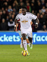 Pictured: Bafetimbi Gomis of Swansea Saturday 10 January 2015<br /> Re: Barclays Premier League, Swansea City FC v West Ham United at the Liberty Stadium, south Wales, UK