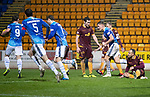 St Johnstone v Motherwell…15.12.18…   McDiarmid Park    SPFL<br />Jason Kerr celebrates his goal<br />Picture by Graeme Hart. <br />Copyright Perthshire Picture Agency<br />Tel: 01738 623350  Mobile: 07990 594431