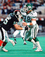 James Capers Saskatchewan Roughriders 1986. Photo Scott Grant