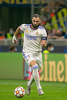 Milan, Italy - september 15 2021 - karim benzemà in action during Inter- Real Madrid champions league