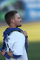 Brant Whiting (23) of the Rancho Cucamonga Quakes before a game against the Lancaster JetHawks at LoanMart Field on September 9, 2017 in Rancho Cucamonga, California. Lancaster defeated Rancho Cucamonga, 12-7. (Larry Goren/Four Seam Images)