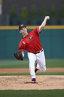 Georgia Bulldogs starting pitcher Andrew Gist (5) in action against the Charlotte 49ers at BB&T Ballpark on March 8, 2016 in Charlotte, North Carolina. The 49ers defeated the Bulldogs 15-4. (Brian Westerholt/Four Seam Images)