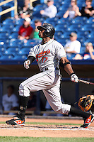 June 11th 2008:  Kieron Pope of the Delmarva Shorebirds, Class-A affiliate of the Baltimore Orioles, during a game at Classic Park in Eastlake, OH.  Photo by:  Mike Janes/Four Seam Images