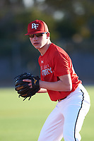 Oaklee Spens (46), from Burbank, California, while playing for the Cardinals during the Under Armour Baseball Factory Recruiting Classic at Gene Autry Park on December 27, 2017 in Mesa, Arizona. (Zachary Lucy/Four Seam Images)