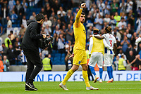 Matthew Ryan Goalkeeper of Brighton & Hove Albion (1) Celebrates after the Premier League match between Brighton and Hove Albion and Manchester United at the American Express Community Stadium, Brighton and Hove, England on 19 August 2018. Photo by Edward Thomas / PRiME Media Images.