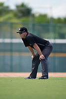 Umpire Conor McKenna during a Gulf Coast League game between the GCL Twins and GCL Pirates on August 6, 2019 at Pirate City in Bradenton, Florida.  (Mike Janes/Four Seam Images)