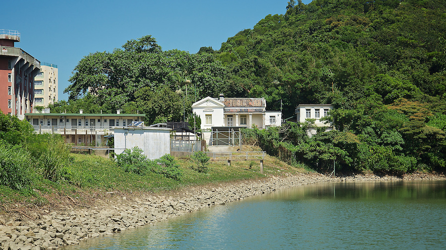The watchman's cottage stands guard over the Pok Fu Lam Reservoir, Hong Kong Island.