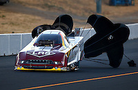 Jul. 25, 2014; Sonoma, CA, USA; NHRA funny car driver Tim Wilkerson during qualifying for the Sonoma Nationals at Sonoma Raceway. Mandatory Credit: Mark J. Rebilas-