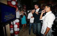 "John Isner,  Novak Djokovic, Players Party, Novak restaurant, ATP 250 series tennis tournament ""Serbia Open"" in Belgrade, Serbia, Tuesday, April 26. 2011. (photo: Pedja Milosavljevic / SIPA PRESS)"