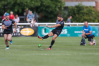 Jarrod Sammut of London Broncos restarts the game during the Kingstone Press Championship match between London Broncos and Sheffield Eagles at Castle Bar , West Ealing , England  on 9 July 2017. Photo by David Horn.