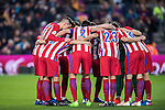 Players of Atletico de Madrid prior to the Copa del Rey 2016-17 Semi-final match between FC Barcelona and Atletico de Madrid at the Camp Nou on 07 February 2017 in Barcelona, Spain. Photo by Diego Gonzalez Souto / Power Sport Images
