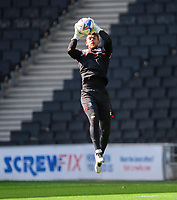 Lincoln City's Alex Palmer during the pre-match warm-up<br /> <br /> Photographer Chris Vaughan/CameraSport<br /> <br /> The EFL Sky Bet League One - Milton Keynes Dons v Lincoln City - Saturday 19th September 2020 - Stadium MK - Milton Keynes<br /> <br /> World Copyright © 2020 CameraSport. All rights reserved. 43 Linden Ave. Countesthorpe. Leicester. England. LE8 5PG - Tel: +44 (0) 116 277 4147 - admin@camerasport.com - www.camerasport.com