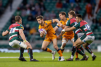 21st May 2021; Twickenham, London, England; European Rugby Challenge Cup Final, Leicester Tigers versus Montpellier; Vincent Rattez of Montpellier Rugby heads towards Hanro Liebenberg of Leicester Tigers