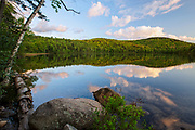 Russell Pond in Woodstock, New Hampshire USA during the spring months. This area was logged during the Woodstock & Thornton Gore Railroad era (1909-1914).