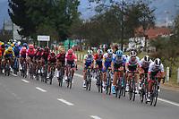 TUNJA - COLOMBIA, 15-02-2020: Grupo principal durante la quinta etapa del Tour Colombia 2.1 2020 con un recorrido de 180,5 km que se corrió entre Paipa, Boyacá, y Zipaquirá, Cundinamarca. / Main group during the fourth stage of 180,5 km as part of Tour Colombia 2.1 2020 that ran between Paipa, Boyaca, y Zipaquirá, Cundinamarca.  Photo: VizzorImage / Darlin Bejarano / Cont