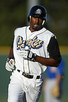 September 1 2008: Drew Toussaint of the Rancho Cucamonga Quakes during game against the Inland Empire 66'ers at The Epicenter in Rancho Cucamonga,CA.  Photo by Larry Goren/Four Seam Images