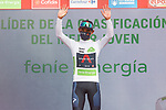 Egan Bernal (COL) Ineos Grenadiers retains the young riders White Jersey at the end of Stage 8 of La Vuelta d'Espana 2021, running 173.7km from Santa Pola to La Manga del Mar Menor, Spain. 21st August 2021.     <br /> Picture: Luis Angel Gomez/Photogomezsport | Cyclefile<br /> <br /> All photos usage must carry mandatory copyright credit (© Cyclefile | Luis Angel Gomez/Photogomezsport)