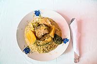 Senegal, Touba.  Tiebou Diene (Rice and Fish), Senegal's National Dish.