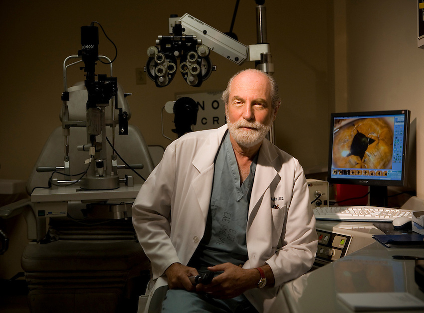 Lafayette College ALumni Dr. Richard S. Koplin in his office at  the New York Eye and Ear Infirmary on Tuesday September 23rd..4322