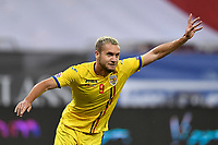 4th September 2020, Bucharest, Romania;  Romania versus Northern Ireland - UEFA Nations League B George Puscas of Romania celebrates his goal during the UEFA Nations League B match
