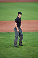 First base umpire Taylor Payne during the Grand Junction Rockies and Ogden Raptors game at Lindquist Field on September 6, 2017 in Ogden, Utah. Ogden defeated Grand Junction 11-7. (Stephen Smith/Four Seam Images)