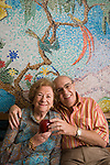 Herman & Roma Rosenblat photographed at their North Miami, Florida condominium for Guideposts magazine on April 7, 2006.