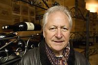 "Switzerland. Canton Ticino. Besazio. Luigi Zanini. Wine grower and producer of the ""Castello Luigi"".  Cellar. © 2008 Didier Ruef"