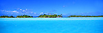 Bora Bora Lagoon, French Polynesia<br /> <br /> Image taken on large format panoramic 6cm x 17cm transparency. Available for licencing and printing. email us at contact@widescenes.com for pricing.