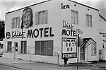 A so called 'hot sheet' motel, where rooms are  for rent by the hour or day. The Big Chief Motel, Gallup New Mexico USA 1972 1970s