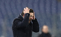 Football, Serie A: AS Roma - Genoa, Olympic stadium, Rome, December 16, 2018. <br /> Roma's coach Eusebio Di Francesco gestures during the Italian Serie A football match between Roma and Genoa at Rome's Olympic stadium, on December 16, 2018.<br /> UPDATE IMAGES PRESS/Isabella Bonotto