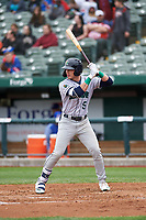 Cedar Rapids Kernels DaShawn Keirsey (5) at bat during a Midwest League game against the South Bend Cubs at Four Winds Field on May 8, 2019 in South Bend, Indiana. South Bend defeated Cedar Rapids 2-1. (Zachary Lucy/Four Seam Images)