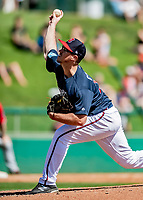 25 February 2019: Atlanta Braves pitcher Jason Creasy on the mound during a pre-season Spring Training game against the Washington Nationals at Champion Stadium in the ESPN Wide World of Sports Complex in Kissimmee, Florida. The Braves defeated the Nationals 9-4 in Grapefruit League play in what will be their last season at the Disney / ESPN Wide World of Sports complex. Mandatory Credit: Ed Wolfstein Photo *** RAW (NEF) Image File Available ***
